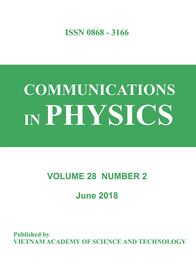 Cover image Vol 28 No 2 (2018) Commun. Phys.